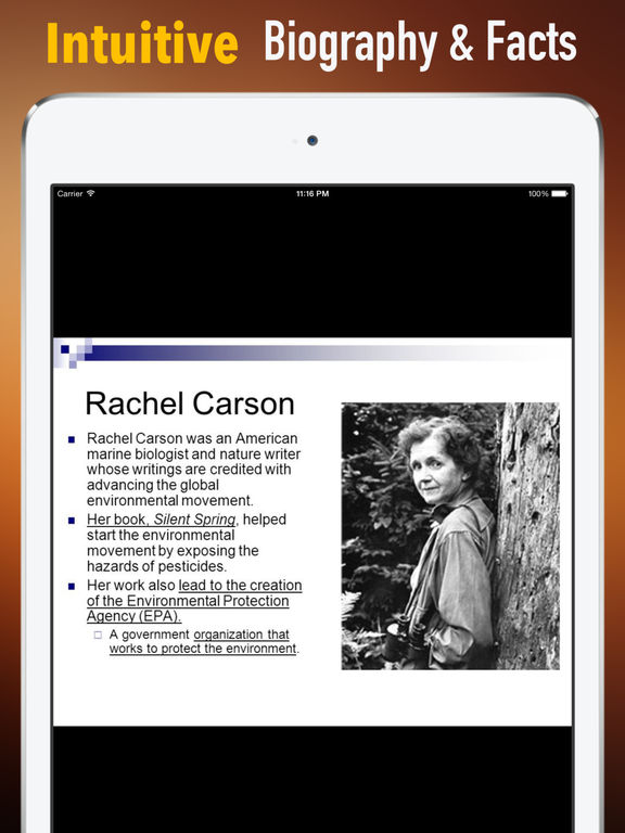 Biography and Quotes for Rachel Carson: Life screenshot 6