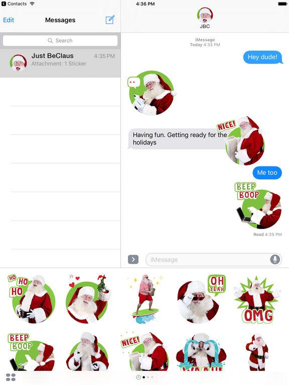 Just BeClaus - Animated Christmas Santa Stickers screenshot 7