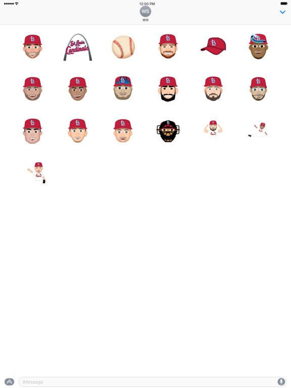 St. Louis Cardinals 2016 MLB Sticker Pack screenshot 3