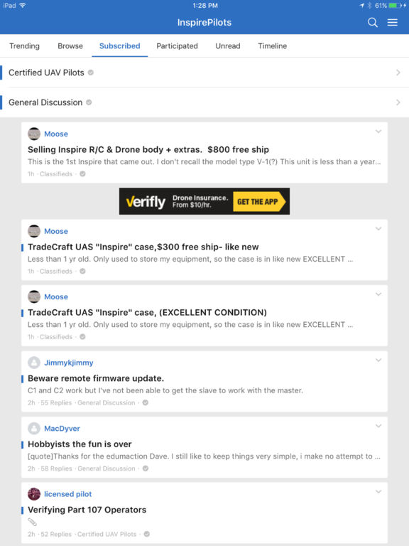 InspirePilots Drone Forum screenshot 5