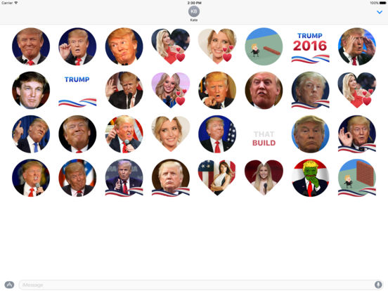 Trump Stickers for iMessage screenshot 2