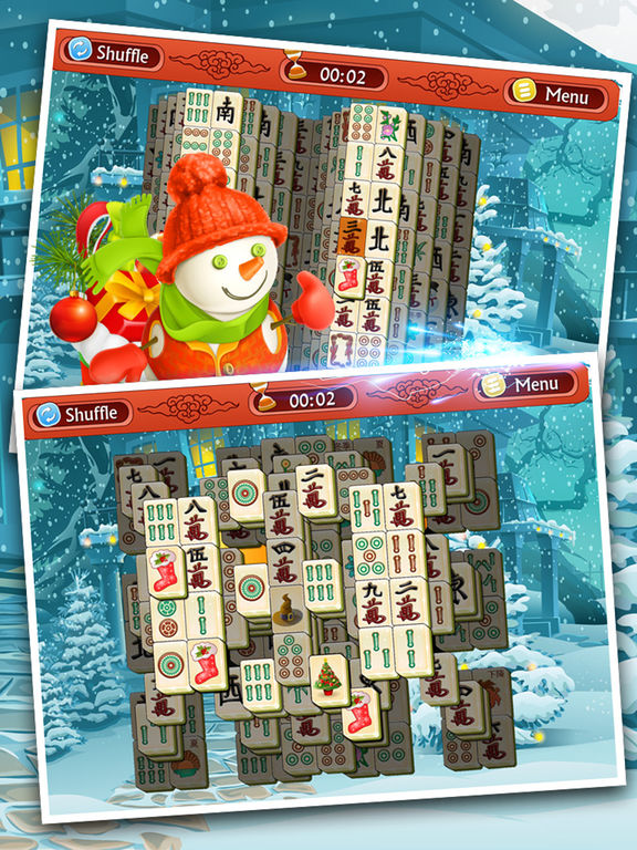Holiday Mahjong 3D - Magic Christmas Puzzle Deluxe screenshot 10