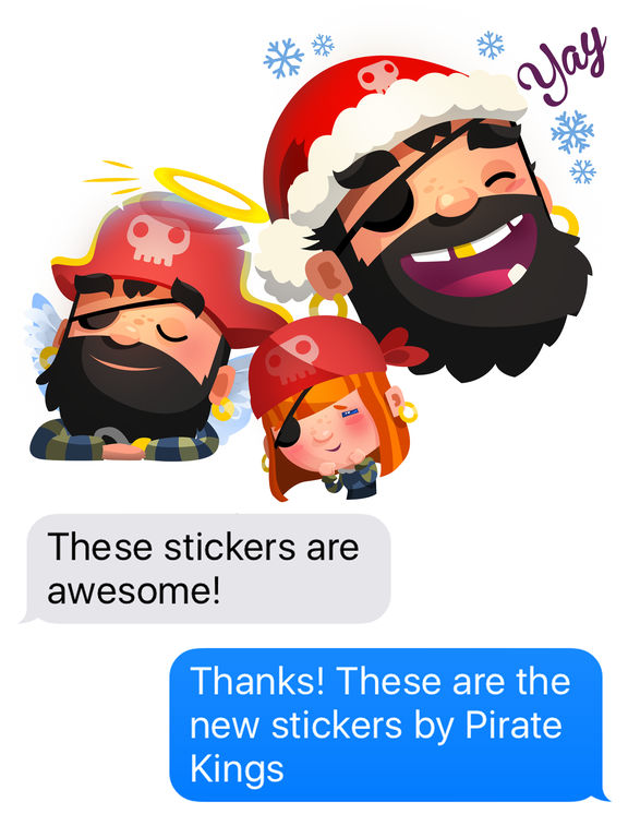 Pirate Kings Animated Stickers for Apple iMessage screenshot 6