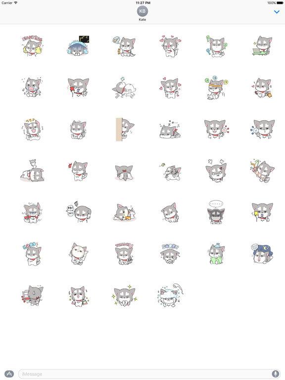 A Little Cute Husky Stickers screenshot 4