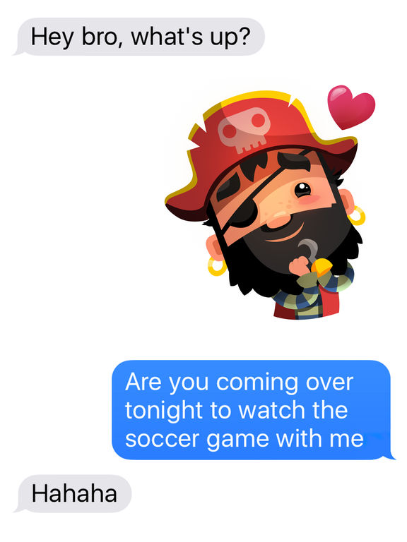 Pirate Kings Animated Stickers for Apple iMessage screenshot 5